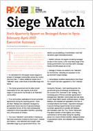 Siege Watch #6 - Summary of the sixth Quarterly Report on Besieged Areas in Syria - February - April 2017